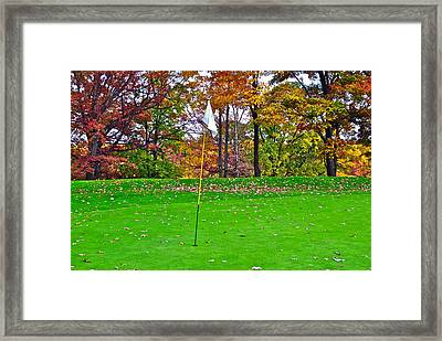 Golf My Way Framed Print by Frozen in Time Fine Art Photography