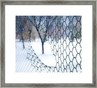Golf Netting Framed Print by Theresa Tahara
