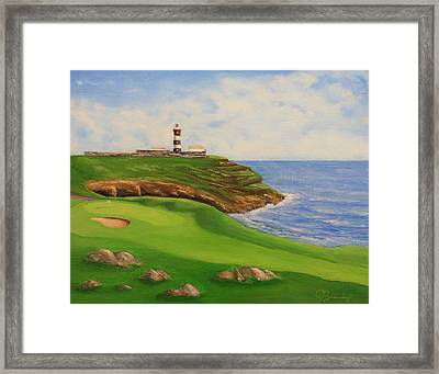 Golf Old Head Of Kinsale Framed Print by Jacob Browning
