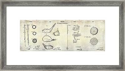 Golf Patent History Drawing Framed Print