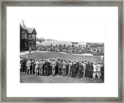 Golf Play At St. Andrews. Framed Print by Underwood Archives