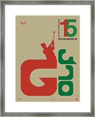Golf Poster Framed Print by Naxart Studio