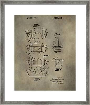 Golf Putter Patent Framed Print