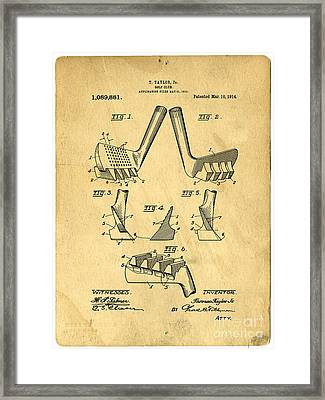 Golf Putter Patent Framed Print
