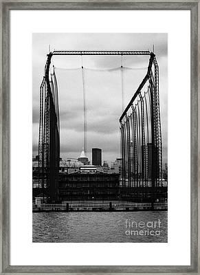 Golf Range Chelsea Piers On The Hudson River New York City Framed Print