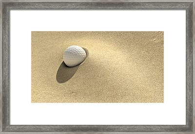 Golf Sand Trap Framed Print by Allan Swart