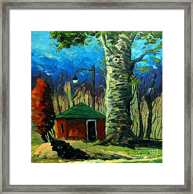 Golf Shed Series No 17 Framed Print by Charlie Spear