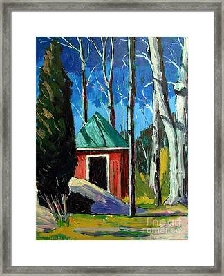Golf Shed Series No.12 Framed Print by Charlie Spear