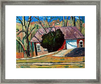 Golf Shed Series No.13 Framed Print by Charlie Spear