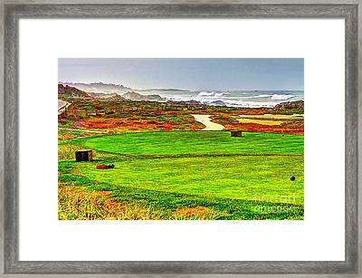 Golf Tee At Spyglass Hill Framed Print by Jim Carrell