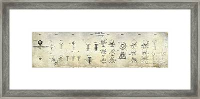 Golf Tee Patent History Drawing Framed Print