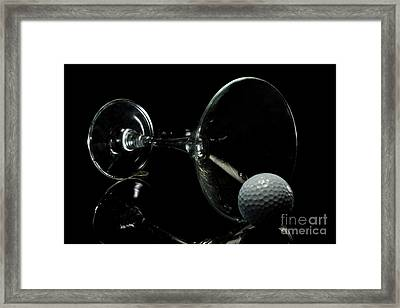 Golf Tini Golf Ball And Martini Glass Framed Print