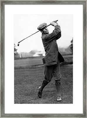 Golfer George Duncan Framed Print by Artist Unknown