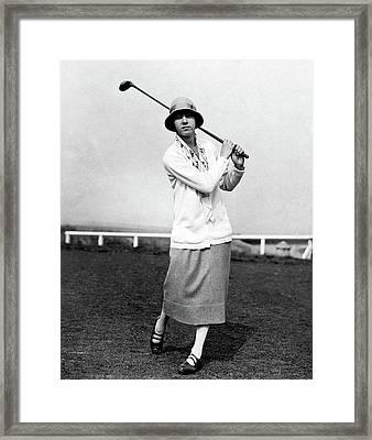 Golfer Joyce Wethered Framed Print by  Acme