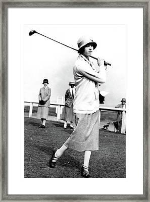 Golfer Joyce Wethered Framed Print by  Photo-Illustration Company