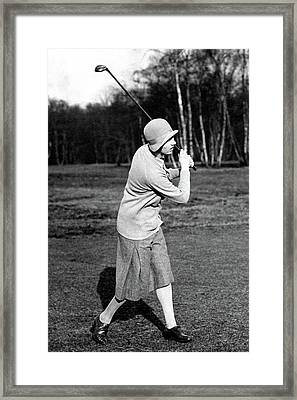 Golfer Joyce Wethered Framed Print by  Wide World Photos