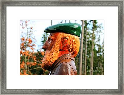 Golfer Profile Framed Print by Tap On Photo