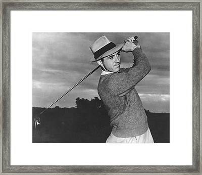 Golfer Sam Snead Framed Print by Underwood Archives