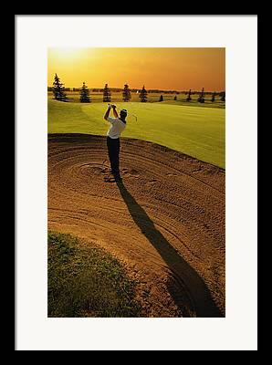 Golfer Framed Prints
