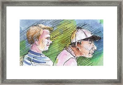 Golfers In Soufflenheim 01 Framed Print by Miki De Goodaboom