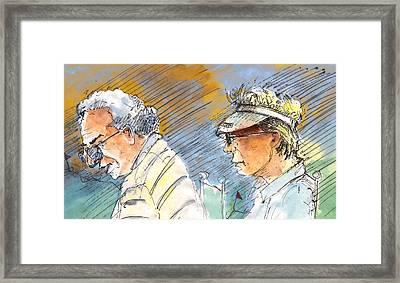 Golfers In Soufflenheim 02 Framed Print by Miki De Goodaboom