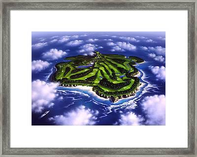 Golfer's Paradise Framed Print