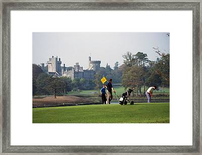 Golfing At Dromoland Castle Framed Print