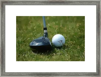 Golfing Framed Print by Dan Sproul