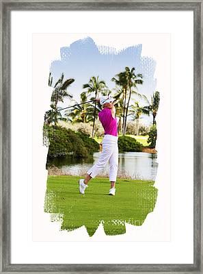 Golfing In Hawaii Framed Print by Jan Tyler