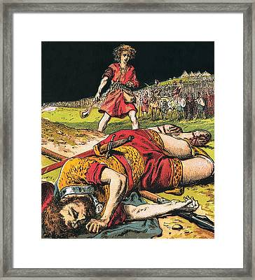 Goliath Framed Print by English School