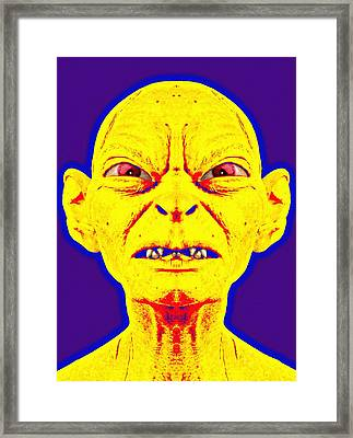 Gollum Alias In The Lord Of The Rings The Two Towers Framed Print by Art Cinema Gallery