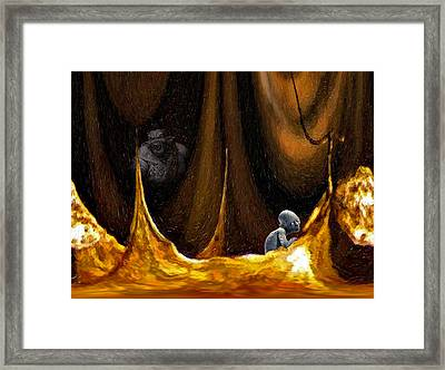 Gollum Shows The Way Framed Print by Steve Harrington
