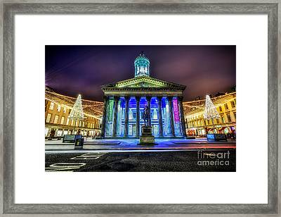 Goma Glasgow Lit Up Framed Print by John Farnan