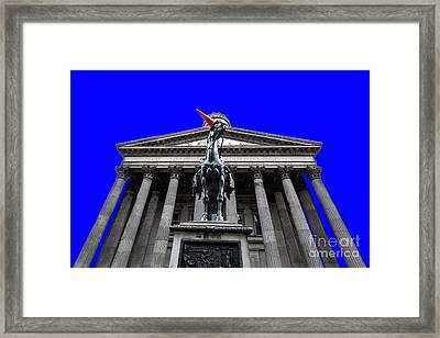 Goma Pop Art Blue Framed Print by John Farnan
