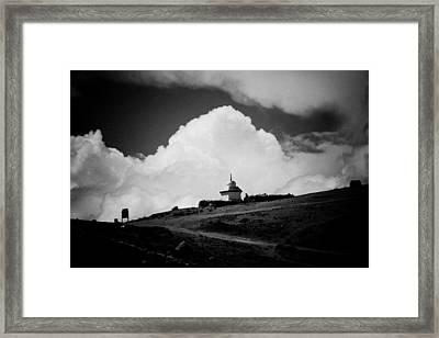 Gompa Clouds In Tibet  Framed Print by Raimond Klavins