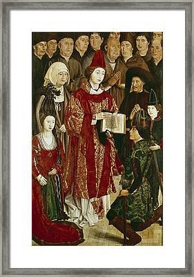 Gon�alves, Nuno 1411-1471. Altarpiece Framed Print by Everett