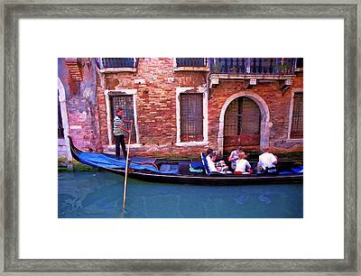 Framed Print featuring the photograph Gondola 4 by Allen Beatty