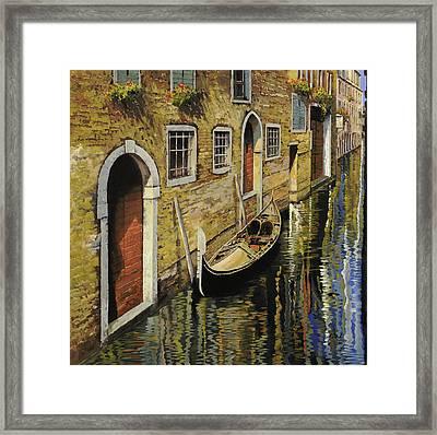 Gondola A Venezia Framed Print by Guido Borelli