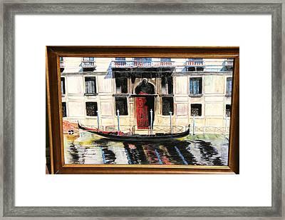 Gondola At Rest. Framed Print