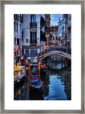 Gondola Drivers Framed Print