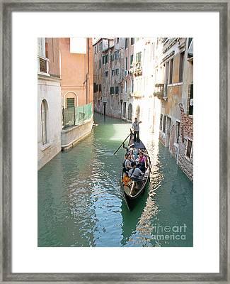 Gondola Framed Print by Evgeny Pisarev