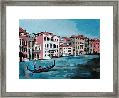 Gondola Framed Print by Filip Mihail
