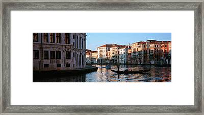 Gondola In A Canal, Grand Canal Framed Print