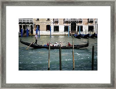 Gondola Jaunt Framed Print