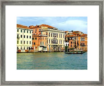 Gondola On The Grand Canal Framed Print