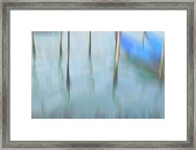 Gondola Poles Framed Print