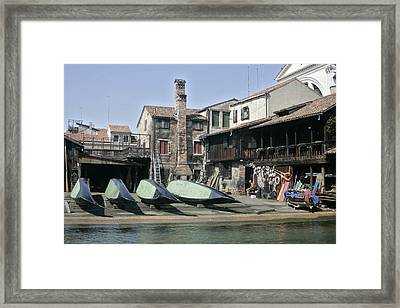Gondola Showroom Framed Print
