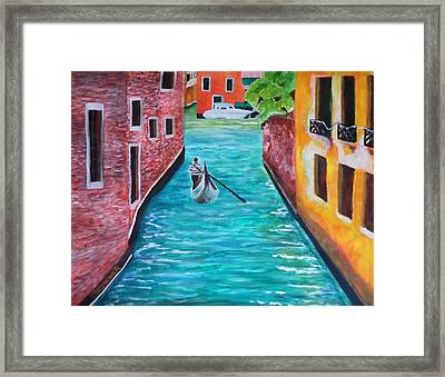 Gondola Time Framed Print by Christy Saunders Church
