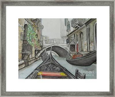 Gondola Venice Italy Framed Print