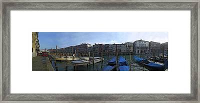 Gondolas Framed Print by Gary Lobdell